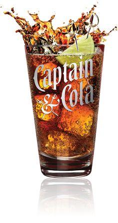 Coke and only Coke #captainmorgan #coke #rum
