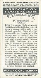 1938 W.A.& A.C Churchman #4 P. Buchanan Back