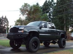 blacked out 2005 duramax - - Yahoo Image Search Results Lifted Chevy Trucks, Chevy Silverado, Yahoo Images, Badass, Image Search, Monster Trucks, Vehicles, Black, Black People