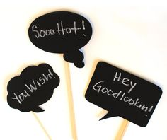 """Chalkboard Speech Bubbles:    Good for things like """"We miss you Daddy"""", """"Wish you were here Daddy""""... #kimberlingray."""
