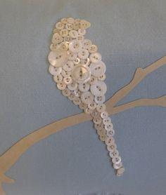 Classic Contemporary Vintage Button Bird