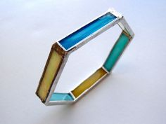 Stained Glass Multicolored Bangle Bracelet