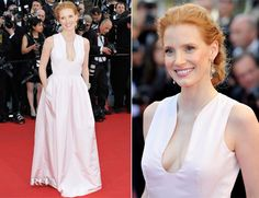 Jessica Chastain In Alexander McQueen - 'Moonrise Kingdom' Cannes Film Festival Premiere & Opening Ceremony