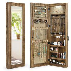 Mirror Jewelry Storage, Mirror Jewellery Cabinet, Jewellery Storage, Jewellery Display, Diy Jewelry Armoire, Wood Jewelry Display, Wall Organization, Jewelry Organization, Diy Jewelry Organizer Wall