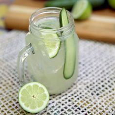 Our cucumber limeade cocktail is the quintessential balance of sweet and sour— perfectly refreshing and crisp for a summer day!