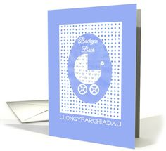 Llongyfarchiadau welsh for congratulations greetings card 250 new baby boy congratulations card welsh greeting up to 350 http m4hsunfo Images