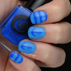 Cirque Colors Poolside Collection Nautical Nail Art