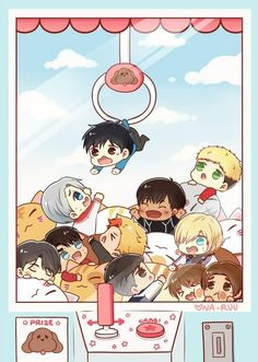 Imagen de anime, chibi, and yuri on ice