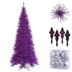 Purple Christmas Tree with Purple Decorations - NorthPoleDecor.com