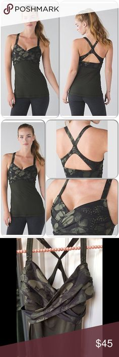 Lululemon Wrap it tank New, moss green color, purchased here neverworn, a bit tight on top for me, just a beautiful top from Lululemon lululemon athletica Tops