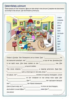 Printable Computer Worksheets the Thomsons Present Continuous 2 Levels - - Teaching English Grammar, English Writing Skills, English Reading, English Lessons, French Lessons, Spanish Lessons, Teaching Spanish, Vocabulary Practice, Grammar And Vocabulary