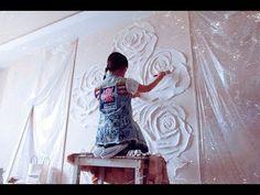 """БАРЕЛЬЕФ урок /работа№2 """"ЛИСТЬЯ""""- ПОДГОТОВКА, декоративная штукатурка, лофт - YouTube"""