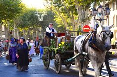 Winemaker in parade celebrating French cultural heritage and traditions
