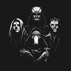 Star Wars Bohemian Rhapsody T Shirt. This awesome Sith Queen mashup design features Darth Vader, Darth Maul, Darth Sidious (The Emperor) and Kylo Ren. >>> Mine is of course DARTH VADER I'm like Kylo Ren for loving Vader lol Star Wars Film, Theme Star Wars, Star Wars Art, Star Trek, Star Wars Kylo Ren, Darth Maul, Anakin Vader, Cultura Pop, Star Wars Tattoo