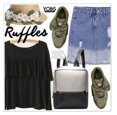 """Add Some Flair: Ruffled Tops"" by teoecar ❤ liked on Polyvore featuring Puma, yoins, yoinscollection and loveyoins"