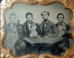 Quadrille band with dulcimer, c.1860, perhaps Utah (owned by California antique dealer in 2007; photo of original ambrotype courtesy of Richard Hulan)