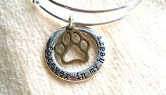 Paw Print Bracelet Forever In My Heart by CraftedwithloveGifts
