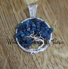 Tree of Life Neon Apetite Pendant by WireandthingsByTania on Etsy