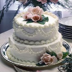 Raspberry Laced Wedding Cake Recipe from Land O'Lakes