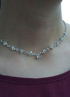 Kaufe meinen Artikel bei #Kleiderkreisel #Swarovski #collier http://www.kleiderkreisel.de/accessoires/ketten-and-anhanger/149415059-kette-mit-kristallen-halskette-ohringen-collier