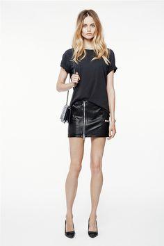 Anine Bing Leather Skirt
