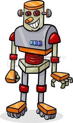 Ilustraci�n de dibujos animados de Robot Alegre photo Cartoon Characters, Fictional Characters, Drawing For Kids, Bart Simpson, Iron Man, Funny, Stock Photos, Stickers, Superhero