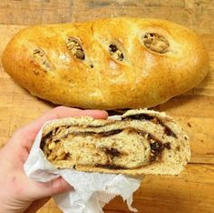 Great Harvest bread company...lil bit of delicious! Chocolate hazelnut swirl...specialty bake.