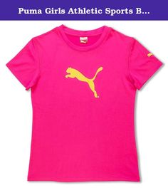 a2e7656d508c Puma Girls Athletic Sports Breathable Sweat Wicking TShirt Mesh Tee Pink Sz  5  gt  gt