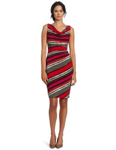 838bd4e4b3a Anne Klein Women s Side Pleated Striped Dress « Dress Adds Everyday