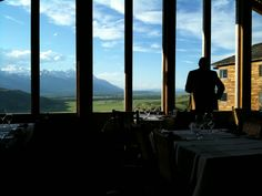The Granary Restaurant in Jackson Hole, killer views - will be going back in summer