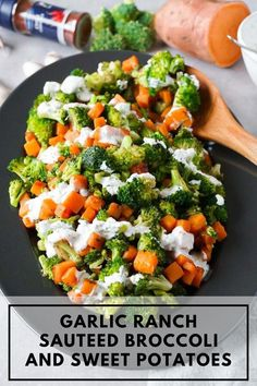 This light and flavorful garlic ranch sautéed broccoli and sweet potatoes side dish will make your lunch or dinner a little bit more special. It pairs well with meat as well as fish or egg dishes. Sweet Potato Side Dish, Potato Sides, Potato Side Dishes, Low Carb Side Dishes, Healthy Side Dishes, Side Dish Recipes, Christmas Side Dishes, Christmas Recipes, Broccoli Health Benefits
