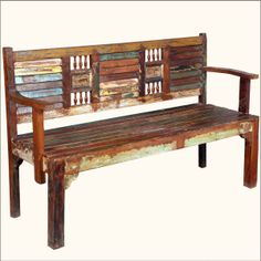 Large Outside Wooden Bench | 62