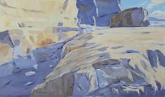 'At The Cliff Foot' was exhibited at the RSMA Exhibition Mall Galleries London 2017
