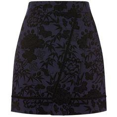 Oasis Flocked Mini Skirt (8.830 HUF) ❤ liked on Polyvore featuring skirts, mini skirts, stretch mini skirt, print mini skirt, short mini skirts and maxi skirts