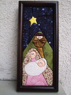 Must make this gorgeous nativity! Christmas Sewing, Christmas Nativity, Felt Christmas, Little Christmas, Christmas Projects, Christmas Holidays, Christmas Decorations, Christmas Ornaments, Quilted Ornaments