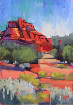 Painting my World: Sedona By Day....Painting on the Deck with my New Terry Ludwigs