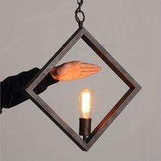 Retor Diamond Style Cast Iron Rope Pendant Antique Rustic Hanging Ceiling Lamp