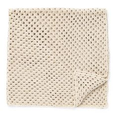 Cozy-up to this classic granny square throw, easily crocheted in Caron One Pound. Basket Weave Crochet Blanket, Knitted Blankets, Caron One Pound Yarn, Crochet For Beginners Blanket, Beginner Crochet, Afghan Crochet Patterns, Crochet Afghans, Crochet Granny, Knit Patterns