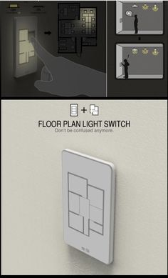 Nice feature that allows the homeowner to turn on or off lights throughout the house via a switch with floor plan.