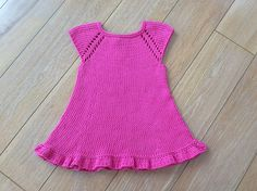 Ravelry: Lavender Dress pattern by Adeline Too Lion Brand Wool Ease, Knit Baby Dress, Lavender Dresses, Dress Gloves, Yarn Brands, Pinafore Dress, Baby Sweaters, Simple Dresses, Dress Patterns