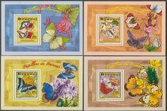BUR 14105 bButterflies Butterflies, Stamps, Seals, Butterfly, Bowties, Postage Stamps, Papillons