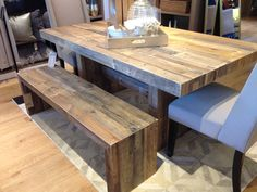 Dining Room Table - my husband needs to make us one! Asap! Tired of my small table