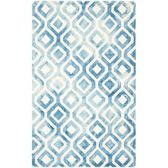 Dip Dye Ivory & Blue Area Rug