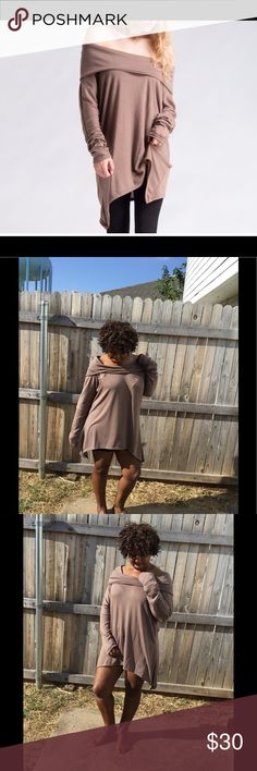Oversized Sweater Comfortable oversized sweater that is forgiving on any body shape. Wear around the house or throw on some leggings and boots for a comfy fall look. 87% polyester 9%Rayon 4% Spandex. Tops Tunics