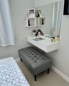 Room Design Bedroom, Room Ideas Bedroom, Home Room Design, Small Room Bedroom, Home Decor Bedroom, Teen Bedroom, Bedrooms, Beauty Room Decor, Makeup Room Decor