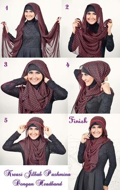 Tutorial hijab with headband