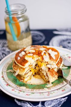 Orange, Almond and Ricotta Pancakes
