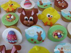 pasen wat ideetjes voor de cupcakes Easter Cupcakes, Cute Cupcakes, Easter Cookies, Easter Treats, Easter Cake, Cupcake Toppers, Cupcake Cakes, Diy Snacks, Fondant Cookies