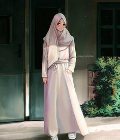 Modest Fashion, Hijab Fashion, Fashion Outfits, Muslim Girls, Muslim Women, Photo Islam, Tmblr Girl, Muslim Images, Hijab Drawing