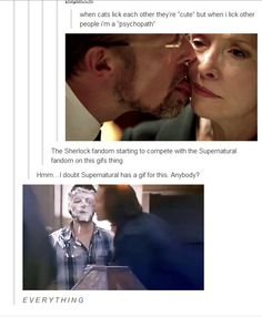 No we pretty much have a gif for everything. E-V-E-R-Y-T-H-I-N-G. I am apart of both fandoms but Supernatural wins everything